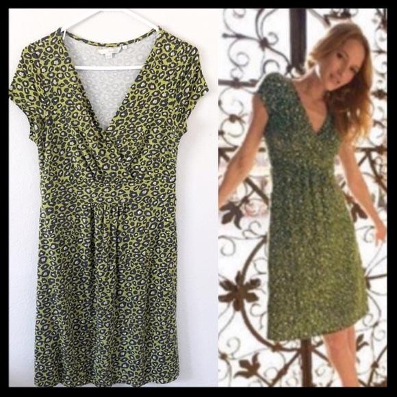 Boden Dresses & Skirts - Boden Leopard Print Faux Wrap Dress